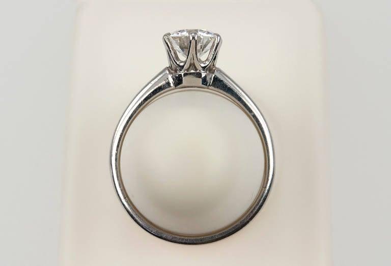 1.01 Carat Diamond Platinum Solitaire Ring 1930s 9