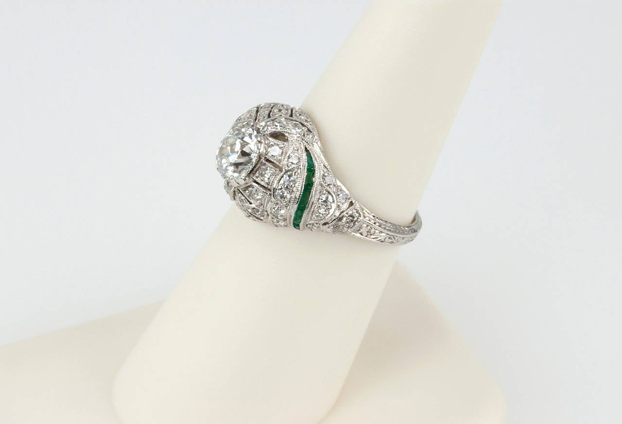 0 92 carat european cut engagement ring with