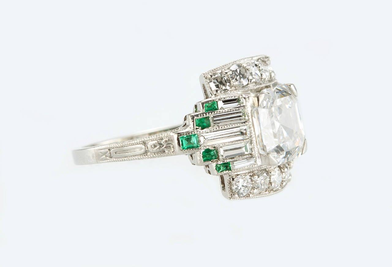 1930s 1 51 carat cert asscher cut emerald