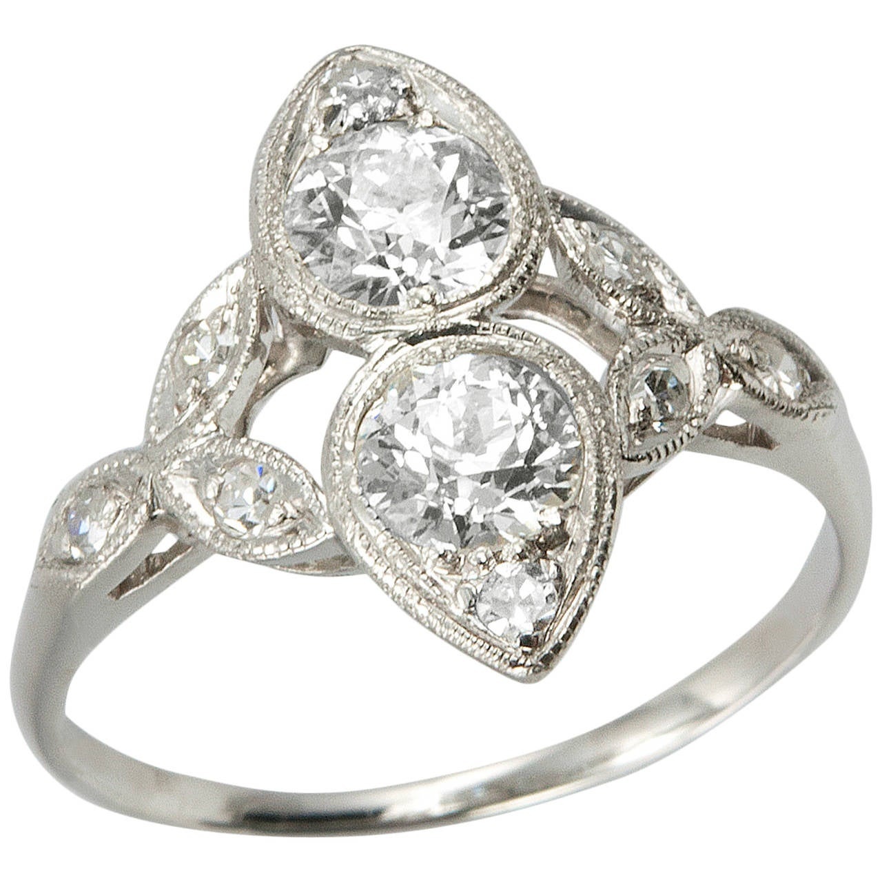 unique edwardian platinum engagement ring at 1stdibs