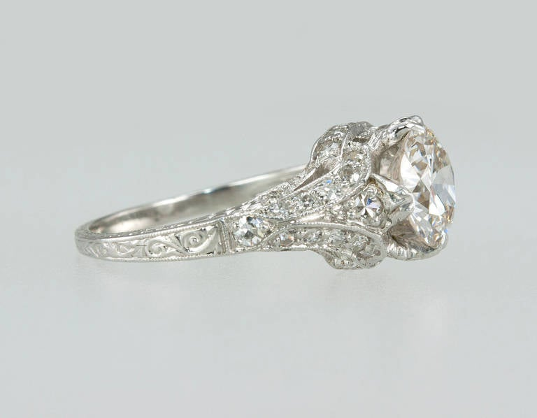 late edwardian early deco engagement ring at