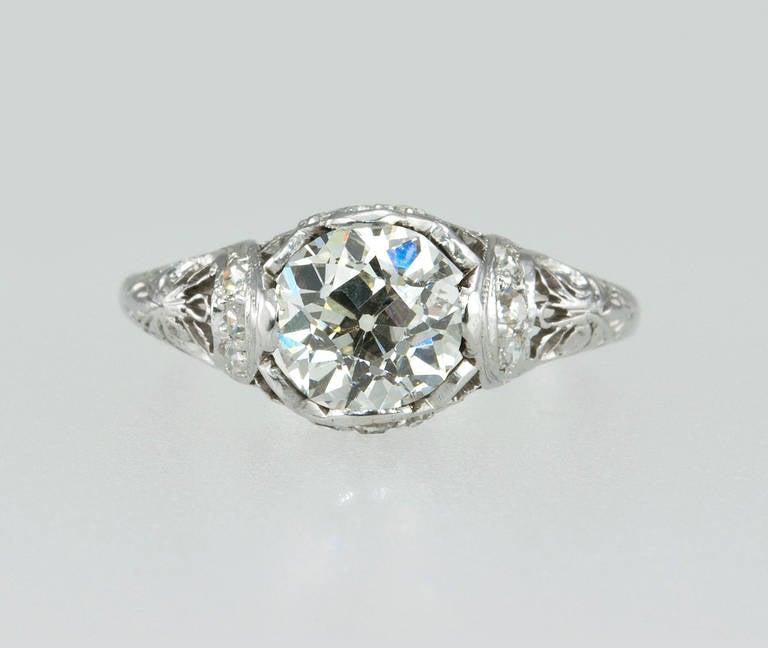 Women's Edwardian 1.31 Carat Diamond Engagement Ring For Sale