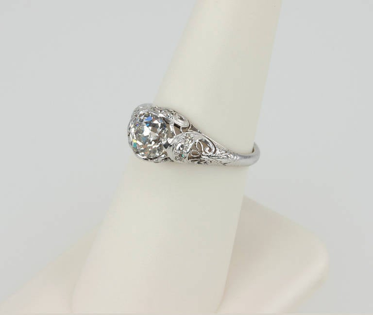 Edwardian 1.31 Carat Diamond Engagement Ring 7