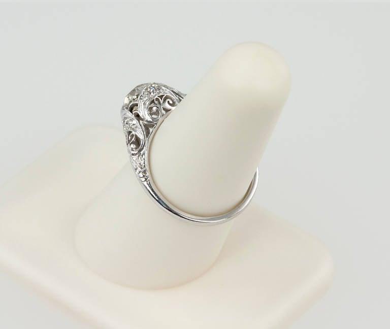 Edwardian 1.31 Carat Diamond Engagement Ring For Sale 4