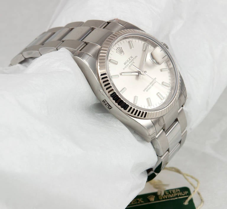 Rolex Stainless Steel Date Wristwatch Ref 115234 circa 2009 In Excellent Condition For Sale In Los Angeles, CA