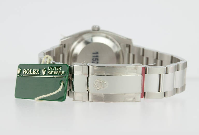 Rolex Stainless Steel Date Wristwatch Ref 115234 circa 2009 For Sale 1