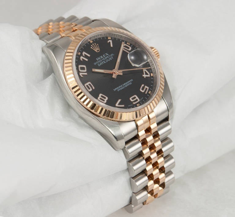 Rolex Stainless steel and Rose Gold Datejust Wristwatch Ref 116231 2007 3