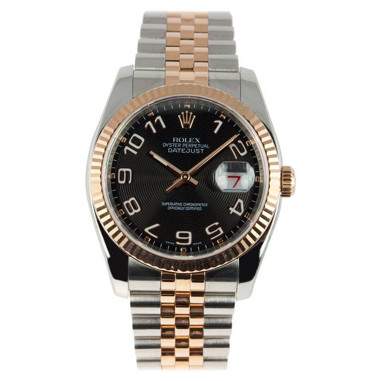 Rolex Stainless steel and Rose Gold Datejust Wristwatch Ref 116231 2007 1
