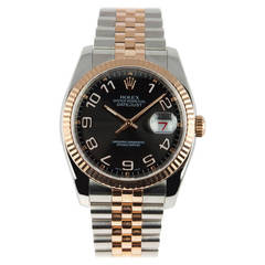Rolex Stainless steel and Rose Gold Datejust Wristwatch Ref 116231 2007