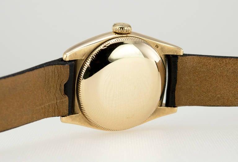 Rolex Yellow Gold Bubbleback Wristwatch Ref 6011 crica 1950s 5