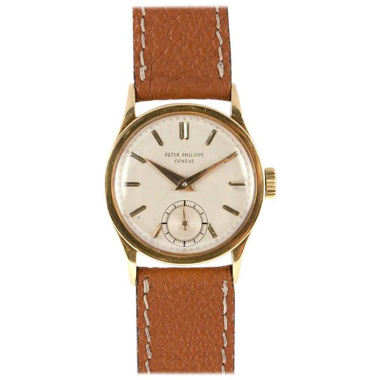 f778bfda16d6 Patek Philippe Yellow Gold Calatrava Wristwatch Ref 96 circa 1940 For Sale