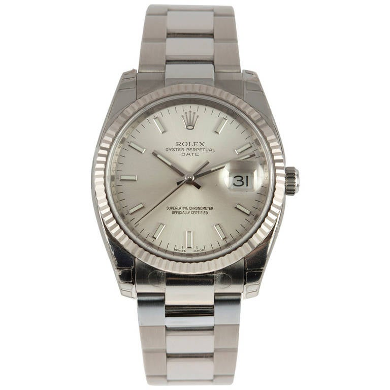 Rolex Stainless Steel Date Wristwatch Ref 115234 circa 2009 For Sale