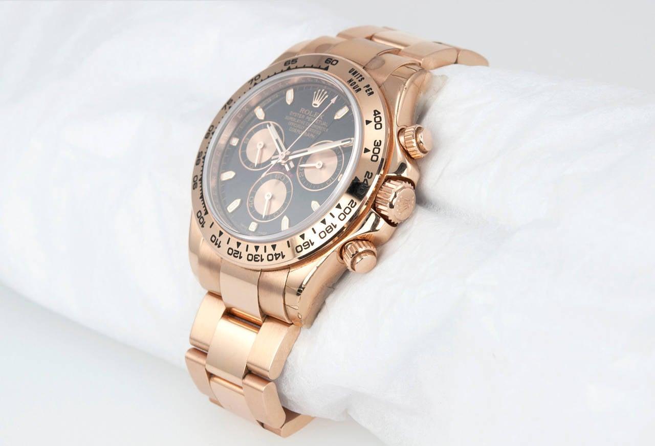 Rolex Rose Gold Daytona Wristwatch Ref 116506 circa 2012 3