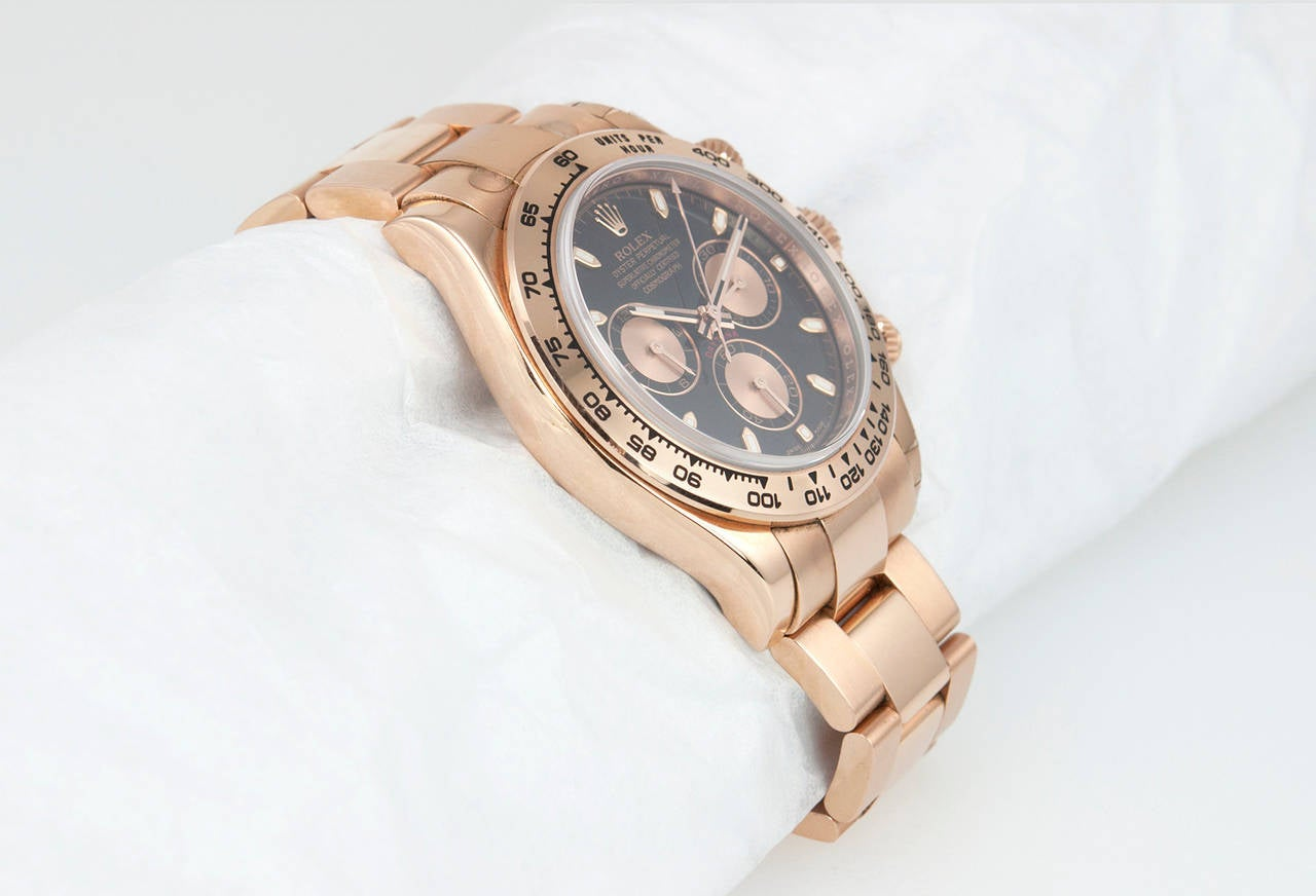 Rolex Rose Gold Daytona Wristwatch Ref 116506 circa 2012 4
