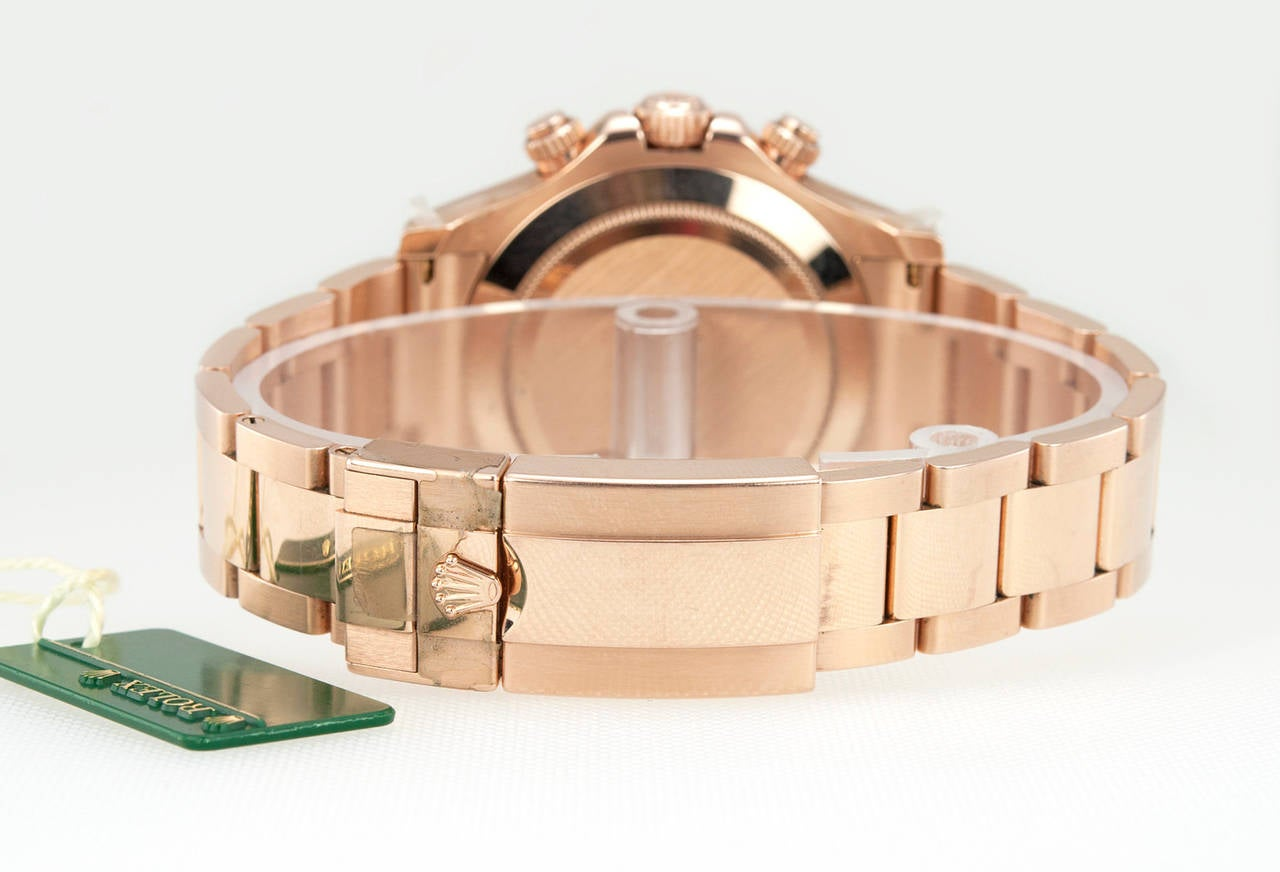 Rolex Rose Gold Daytona Wristwatch Ref 116506 circa 2012 6