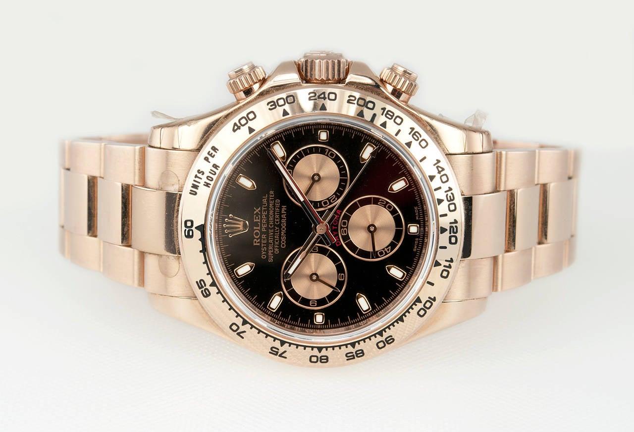 Rolex Rose Gold Daytona Wristwatch Ref 116506 circa 2012 5