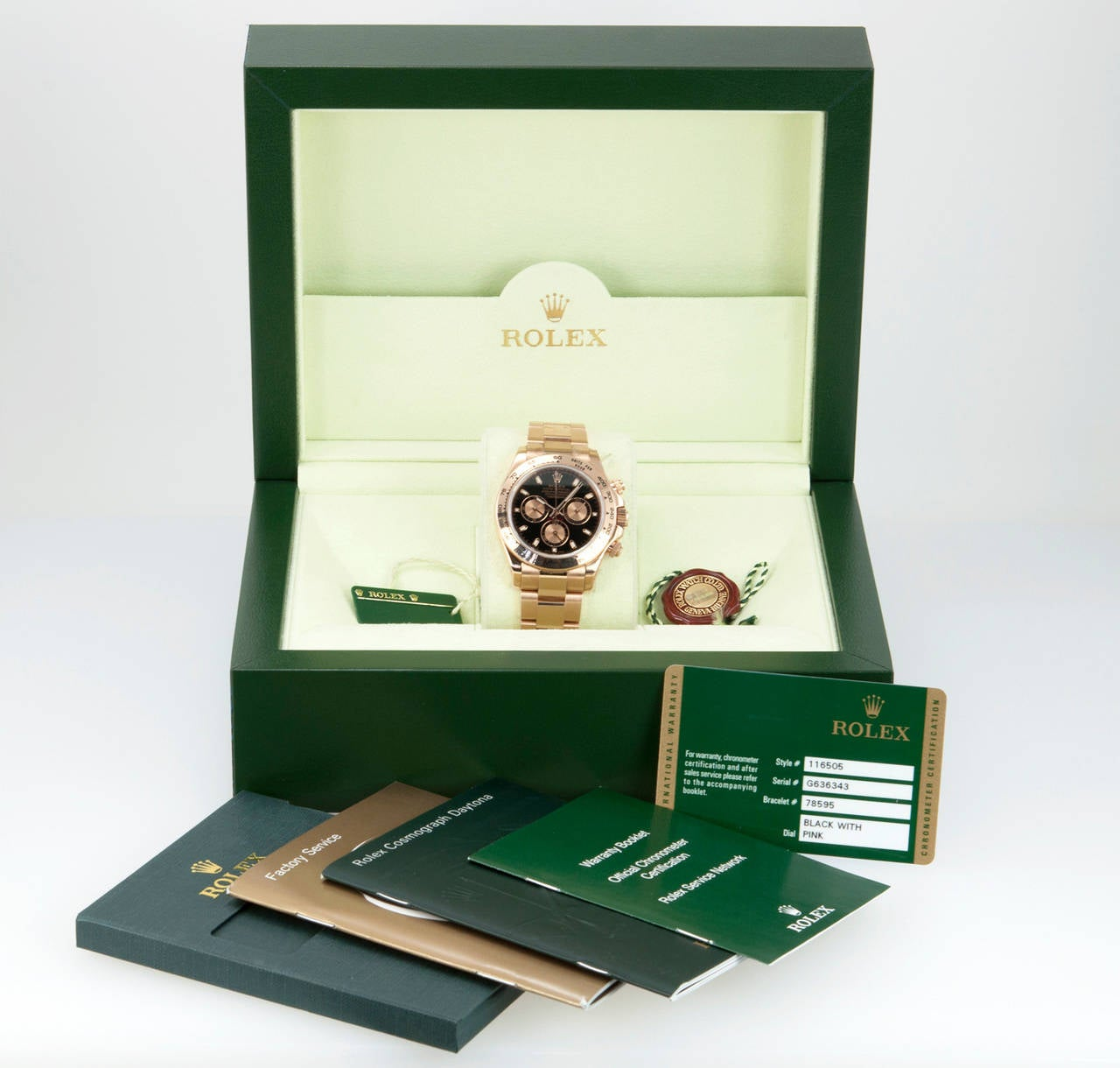 Rolex Rose Gold Daytona Wristwatch Ref 116506 circa 2012 2