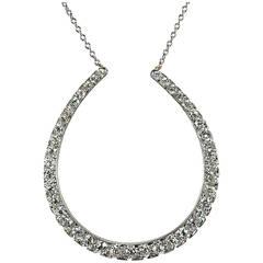 Large Diamond Horseshoe Necklace