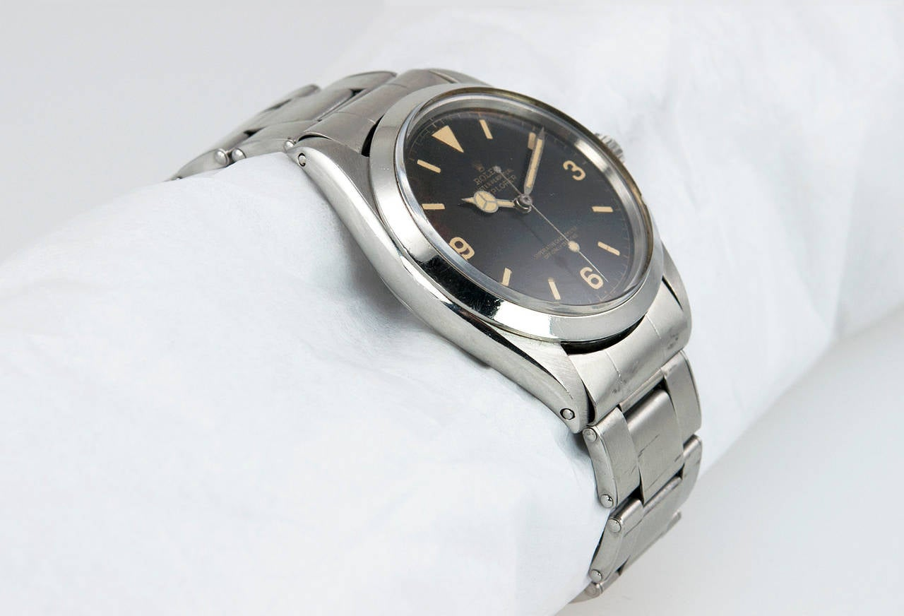 Rolex Stainless Steel Explorer Wristwatch Ref 1016  1966 In Good Condition For Sale In Los Angeles, CA