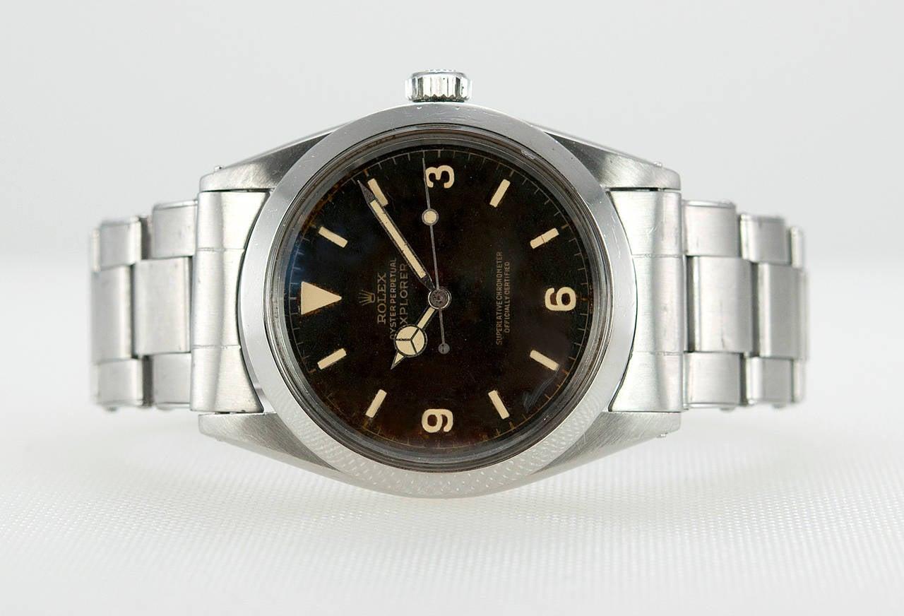 Men's Rolex Stainless Steel Explorer Wristwatch Ref 1016  1966 For Sale