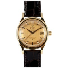 Omega Yellow Gold Constellation Wristwatch circa 1960