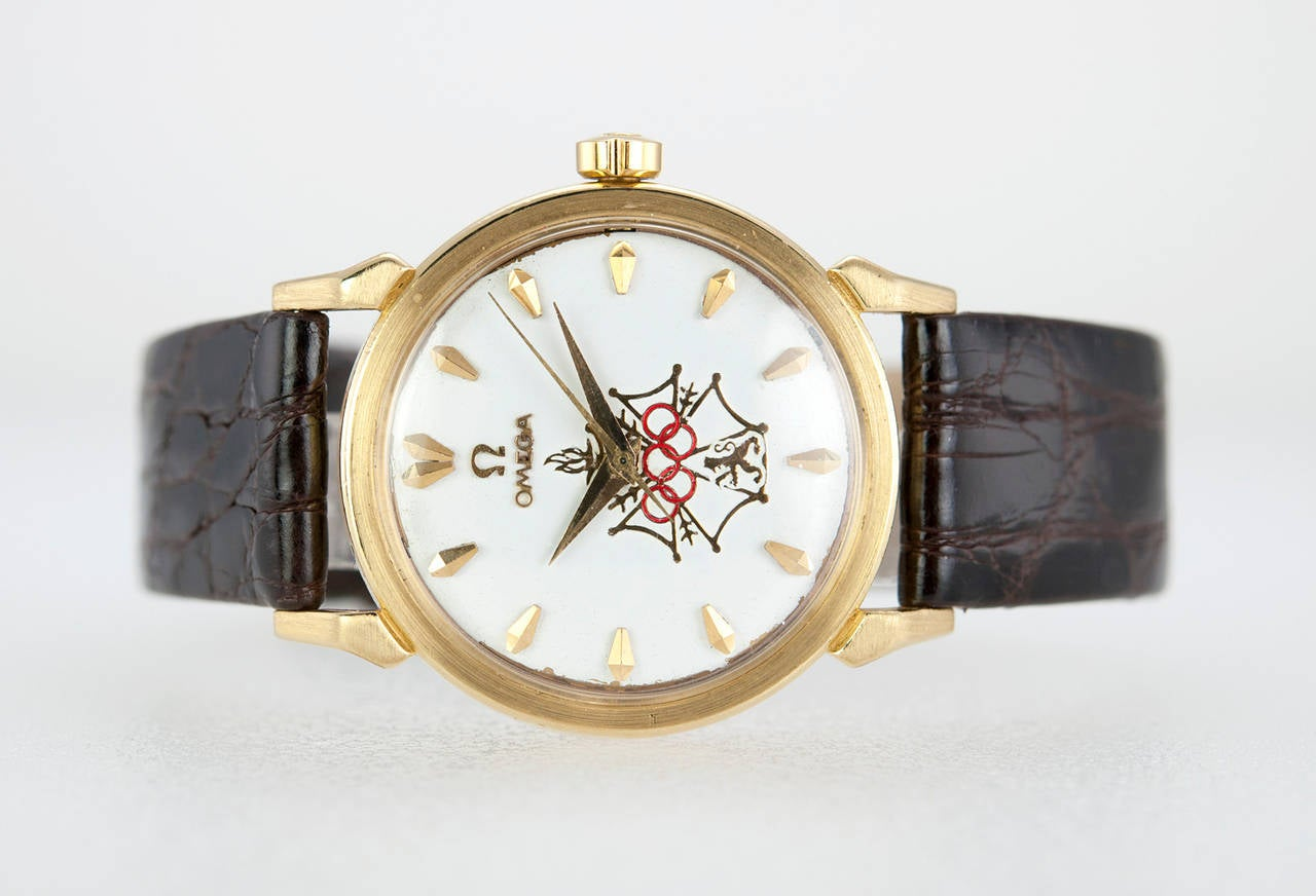 Omega Yellow Gold Seamaster XVI Wristwatch circa 1956 4
