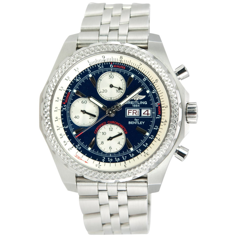 Breitling Bentley Gt Wristwatches: Breitling Stainless Steel Bentley Continental GT