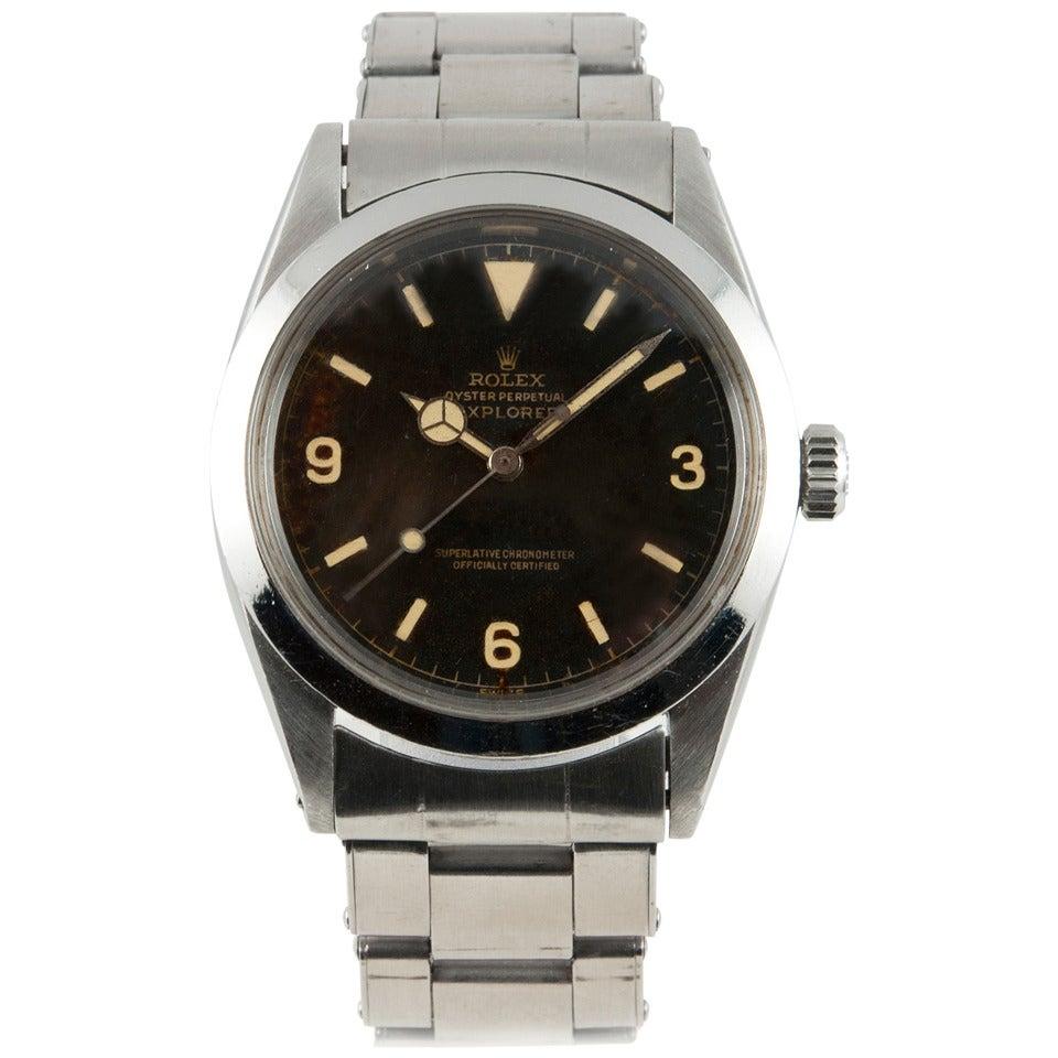 Rolex Stainless Steel Explorer Wristwatch Ref 1016  1966 For Sale