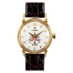 Omega Yellow Gold Seamaster XVI Wristwatch circa 1956
