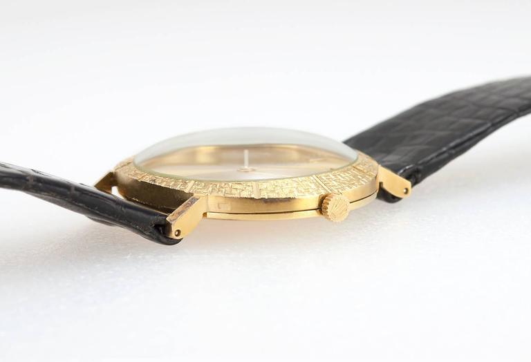 Women's or Men's Rolex Yellow Gold Dress Wristwatch Ref 3613 For Sale