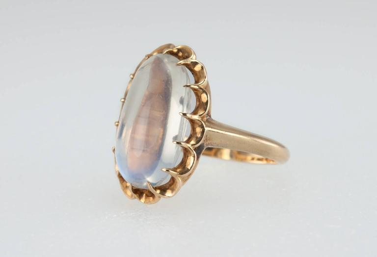 1950s Moonstone Gold Ring 3