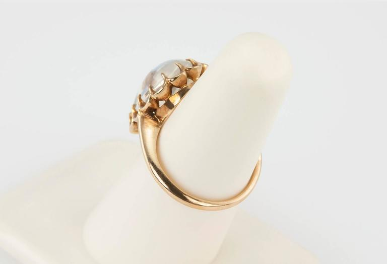 1950s Moonstone Gold Ring 5