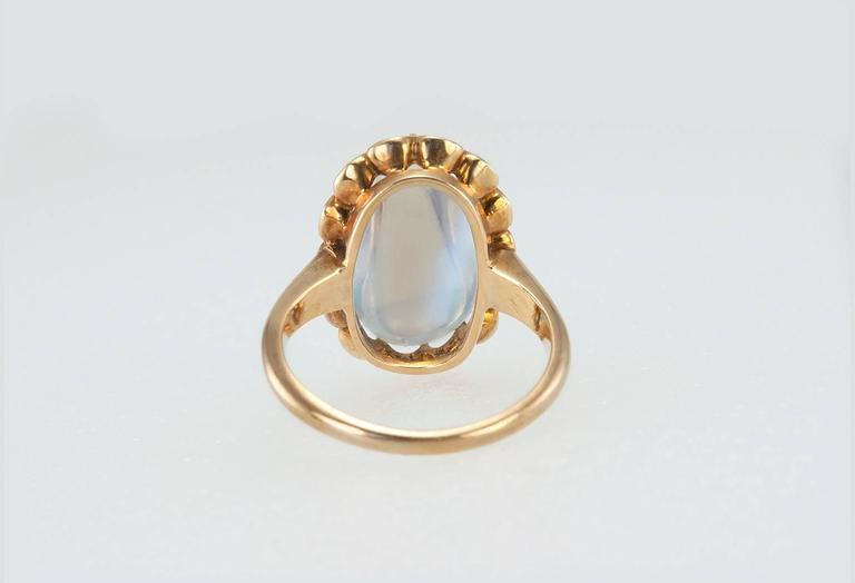 1950s Moonstone Gold Ring 6