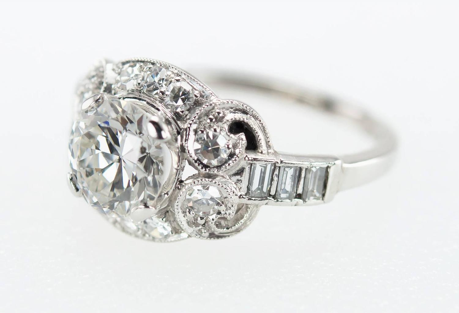 1930s carat diamond platinum engagement ring for sale for 26 carat diamond ring