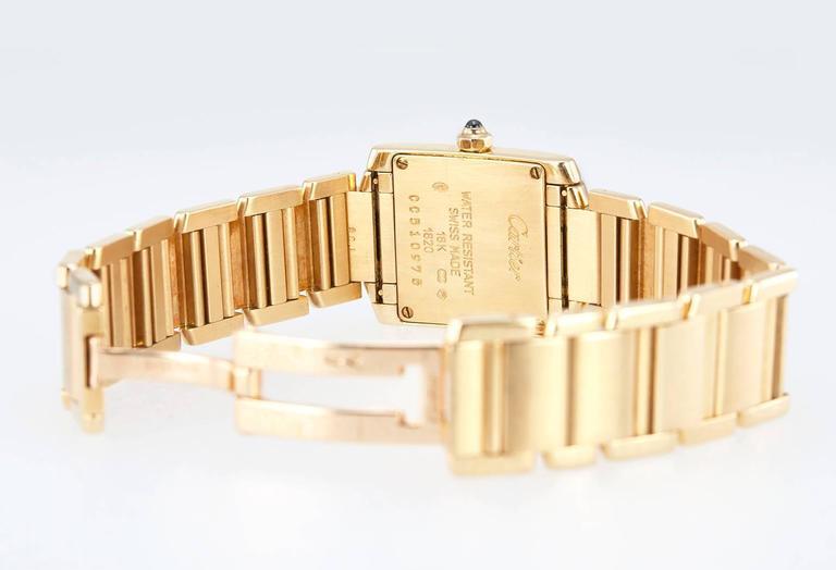 Women's Cartier Ladies Yellow Gold Tank Française Quartz Wristwatch