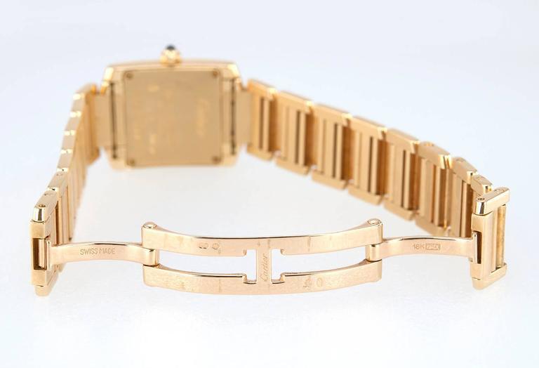 Cartier Ladies Yellow Gold Tank Française Quartz Wristwatch 1