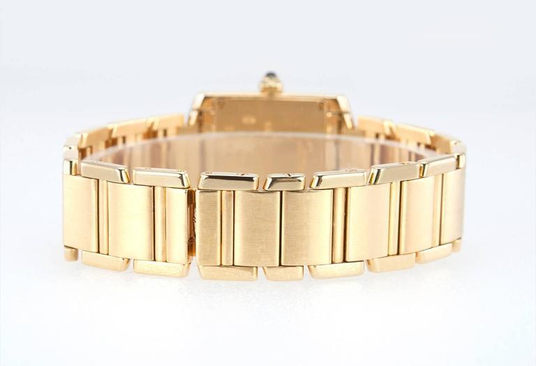 Cartier Ladies Yellow Gold Tank Française Quartz Wristwatch 2