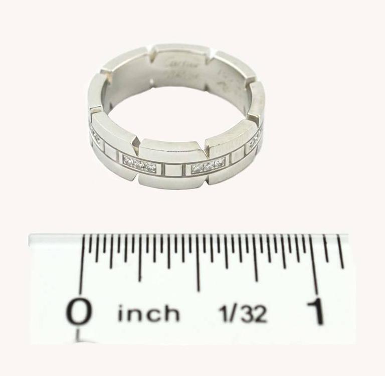 Women's Cartier White Gold Tank Francaise Ring For Sale
