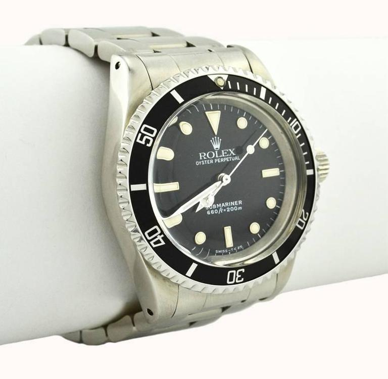 Rolex Stainless Steel Submariner Wristwatch Ref 5513, circa 1988 For Sale 1