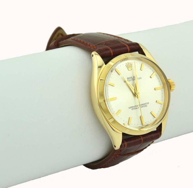 Women's or Men's Rolex yellow gold Oyster Perpetual Wristwatch Ref 1003, circa 1966 For Sale