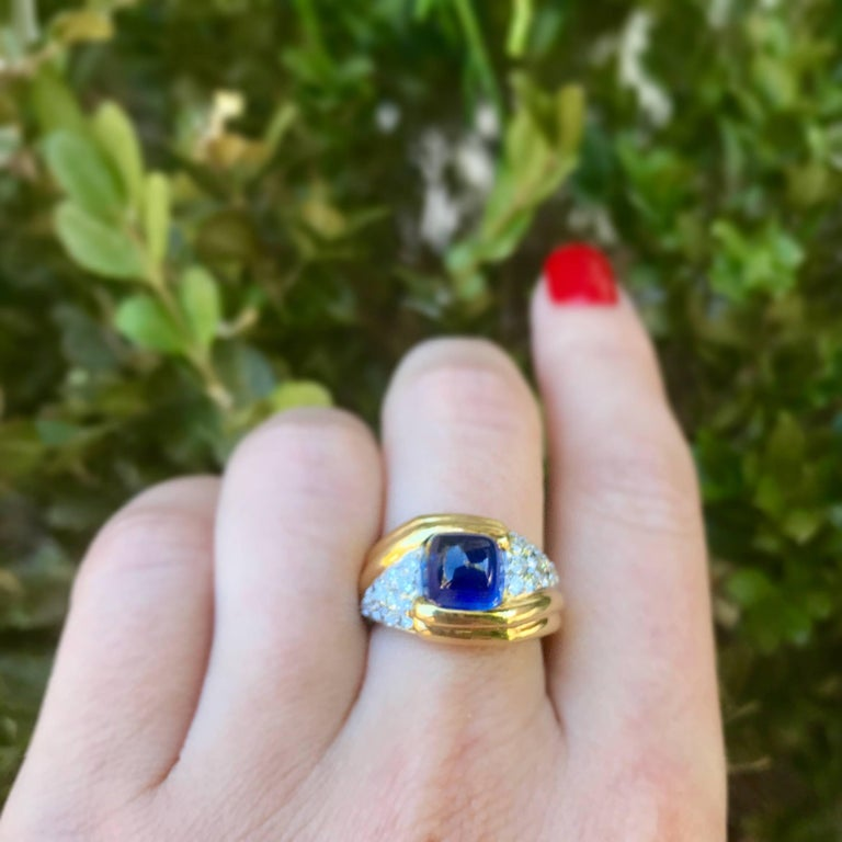 jewelry black total oval vidar carat engagement sapphire gold blue ring shop