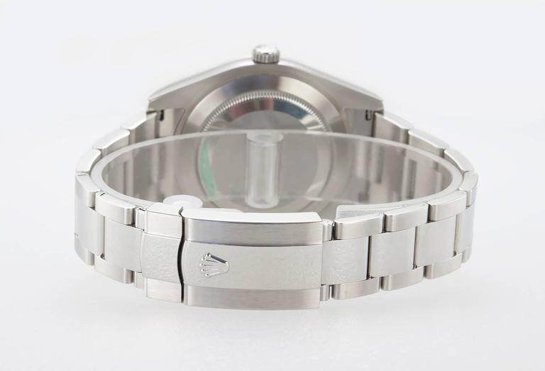 Rolex Stainless Steel Gold Fluted bezel DateJust II Wristwatch Ref 116334 5