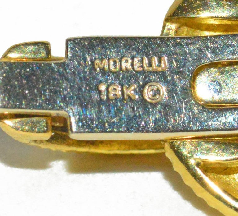 Chic Paul Morelli Gold and Diamond Bracelet In Excellent Condition For Sale In Teaneck, NJ