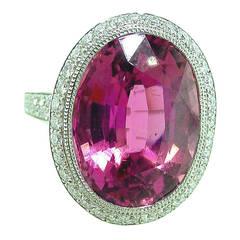 Tiffany & Co. France Tourmaline Diamond Platinum Ring