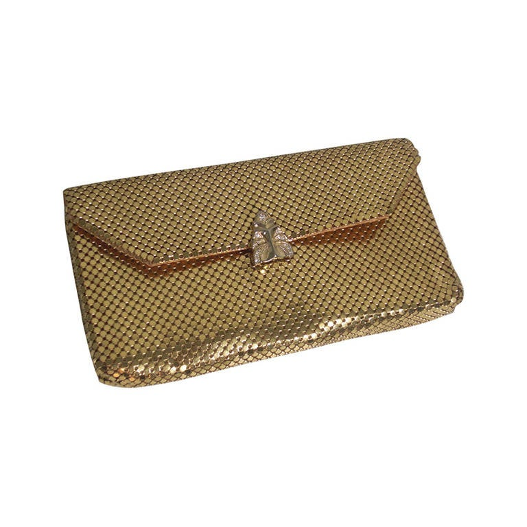 1950s Whiting and Davis Gold Mesh Clutch