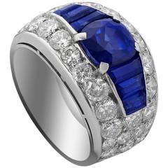 Bulgari Sapphire Diamond Ring
