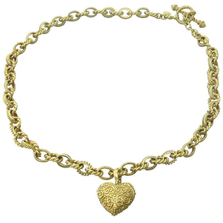 cynthia bach gold charm toggle necklace for sale at