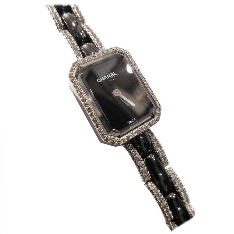 Chanel Lady's White Gold and Diamond First Collection Bracelet Watch 1
