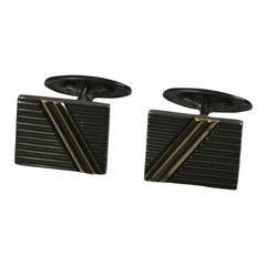 Sterling and Gold Tailored Cufflinks