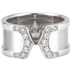 Cartier Décor de Cartier 18k White Gold and Diamond Ring
